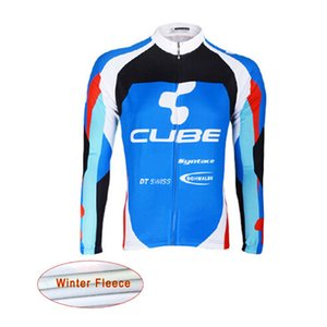 Wholesale 2019 CUBE mtb Bicycle Shirt winter thermal fleece cycling jersey bike long sleeve Racing tops cycling clothing ropa ciclismo 121905Y
