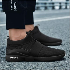 2018 New Men's Shoes Leisure Sports Shoes Men's Sleeve Foot Breathable Mesh Summer New Large-size Running Leisure Shoes Wear-resistant and B