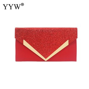 Wholesale Femme Envelope Purse Pu Handbag With Chain Lady Evening Clutch Bag Flap Pochette Crossbody Sequin Envelope Bag For Prom Cocktail