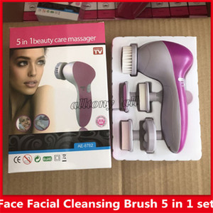 Wholesale DHL Shipping Multifunction Electric Face Facial Cleaning Brush Spa Skin Care massage Cleansing instrument Facial cleansing facial massage