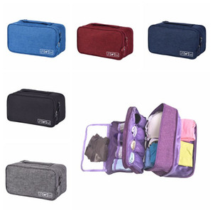 Wholesale Portable Bra Underwear Storage Bag Waterproof Travel Socks Cosmetics Drawer Organizer Wardrobe Pouch Outdoor Bags CCA11860