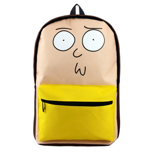 Wholesale Rick and Morty Cartoon Backpack Dragon Ball Travel Bag ONE PIECE High Quality Bag for Cosplay Gift