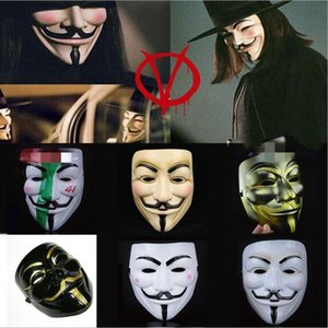 Wholesale Halloween Vendetta Mask Masquerade Decoration Props V Party Male Female Halloween Mask Full Face Movie Masks Festive Decoration LXL487A