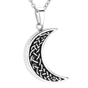 Wholesale moon shaped jewelry for sale - Group buy ZZL100 Moon Shape Human Ashes Holder Stainless Cremation Jewelry for Loved Ones Memorial Keepsake Casket Urns