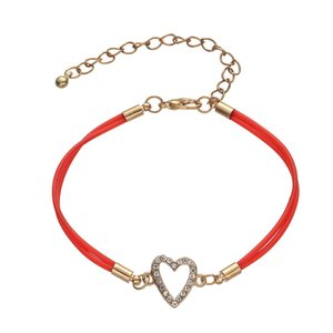 Wholesale bracelet forms for sale - Group buy Concise Alloy Diamond Love Two Hearts Form Bracelet Multicolor
