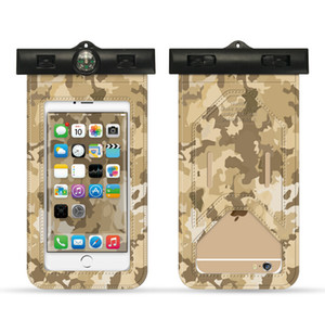 Wholesale Waterproof bag new camouflage mobile phone waterproof bag swimming arm with smart touch screen mobile phone case transparent outdoor Bags