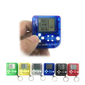 Wholesale Portable Mini Retro Classic Tetris Game Console Keychain LCD Handheld Game Players Anti stress Electronic Toys Kids Gifts Styles A10902