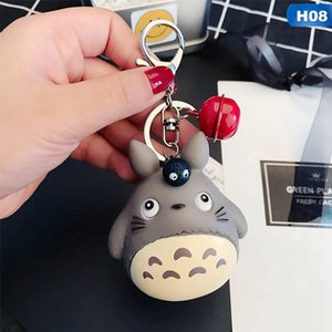 Wholesale Fashion Keychains Cute Kawaii Kitten Cat Key Chain Ring Anime Totoro Keychain Creative Trinket Charm Women Girl Kids Keyring