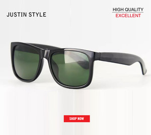 Wholesale HOT Retro Gardient Justin Sunglasses Gradient brown UV400 sunglass Men Women RD4165 Brand Designer Fashion Lunette Occhiali Sun Glasses