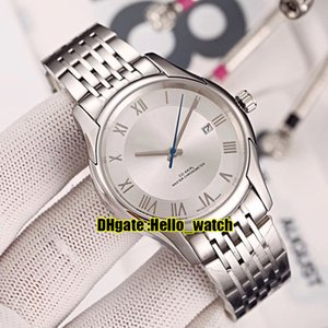 Wholesale New mm Classic White Dial Blue Hands Automatic Mens Watch Stainless Steel Bracelet Gents Watches Hello_watch Color