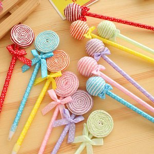Wholesale 24pcs Lollipop Ball Pen Souvenirs Birthday Weeding Christmas Party Baby Shower Gift Happy Birthday Decoration Kids Favor