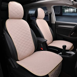 Wholesale 2 Seats Flax Car Seat Cover Protector Front Driving Seat Back Cushion Pad Mat with Backrest for Auto Truck Suv or Van