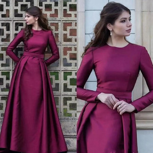 Wholesale mother groom line dresses plus size for sale - Group buy New Grape Mother of the Bride Dresses A Line Long Sleeves Groom Formal Godmother Evening Wedding Party Guests Gown Plus Size Custom Made