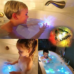 Wholesale Bath LED Light Toys Party in The Tub Durable Floating Toy Bath Water LED Light Kids Children Handheld Flashlights for Baby Toddler