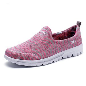 Wholesale Dark red Fashion Light Comfortable Student Shoes Anti Slippery Loafers Lovers Shoes Soft Ladies Slip on Shoes Women Slipony