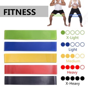 Wholesale Elastic Yoga Rubber Resistance Bands Gym for Fitness Equipment Exercise Band Workout Pull Rope Stretch Training Pilates Expander HHA134