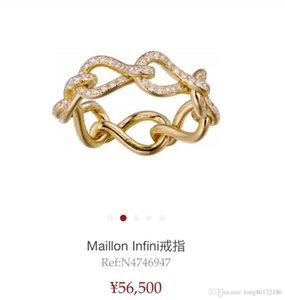 Wholesale Jewelry Collection Designer Rings Buckle Rings 2019 Luxury Fashion Accessories Anniversary Wedding Diamond Ring Infini Collection