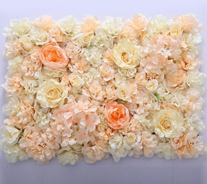 Wholesale centerpieces free shipping resale online - flower wall Silk rose tracery wall encryption floral background artificial flowers creative wedding stage WT055