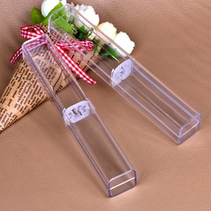 Display Cosmetic Pencil Wedding Diamond Make UP Package holder Retail Plastic Transparent Clear Acrylic case gift Pen box For Crystal Pen