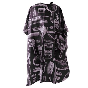 Wholesale Haircut Hairdressing Cape Cloth Apron Hair Styling Cape Salon Equipment With Buttons and Haircut Tools Design