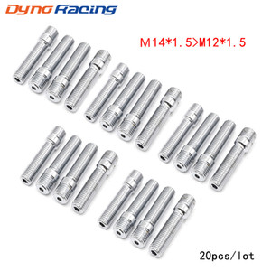 20PCS M14x1.5 TO M12x1.5 New Racing Car Wheel Stud Conversion Tall Lug Bolts To Studs 58MM TT101107