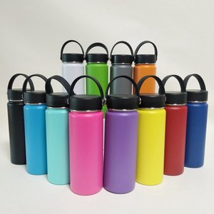 Wholesale Hot Outdoor oz oz oz Vacuum water bottle Insulated Stainless Steel Travel Coffee Mug Wide Mouth Drinking Cup With Lids