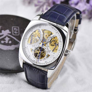New listing Top quality luxury mens watches power reserve tourbillon mechanical movement calendar pointer display fine carving atmospheric