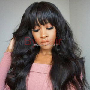 Wholesale ladies hairs resale online - Bythair Lace Front Human Hair Bob Wigs Virgin Hair Peruvian Full Lace Wig With Baby Hairs Glueless Full Lace Human Wigs With Bangs