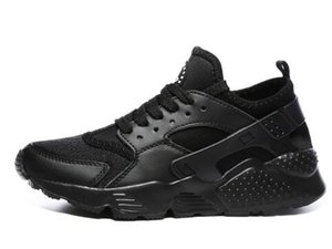 2019 Brand Huarache Run 1.0 4.0 Stripe Black Grey Bronzine Running Shoes New Men Women Designer Sport Sneakers Size 36-44