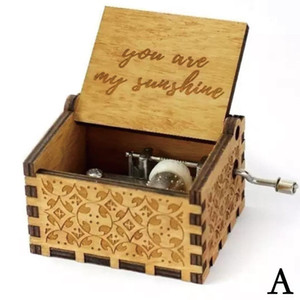 Wholesale Wooden Music Box quot You Are My Sunshine quot Engraved Musical Case Toys Kids Gifts USA