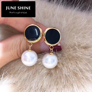 Wholesale DE013 freshwater pearl drop earring free delivery