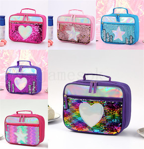 Wholesale kids lunch boxes for sale - Group buy 1Lunch Boxes Sequin Insulation Bag Children kids handbags Lunch bag Aluminum Foil Insulation Bags Food Containers Style DA333