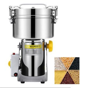 FREE SHIPPING High efficiency commercial Grain Grinder Stainless Steel For Spices Corn Soybean Food Wheat Machine