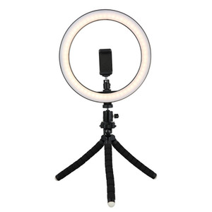 Wholesale Tycipy 26cm Selfie LED Ring Light With Mini Tripod Stand Phone Holder For XS MAX 8 7 6 Plus Smartphone Photography Makeup