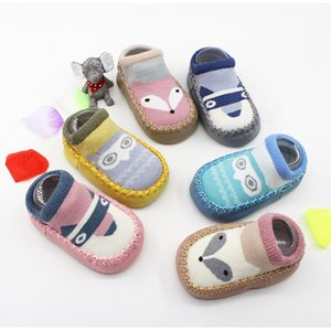 Wholesale INS Fox Kids Spring New Cartoon anti slip First Walkers Floor Socks Baby Shoes Non-slip Toddler Socks Baby Floor Socks 12 designs M547