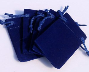 Wholesale 3 Sizes dark blue velvet jewelry pouch gift present package fit for necklace bracelet earring Christmas Bags