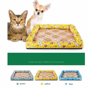 Wholesale Summer Ice Silk Cool Breathable Oxford Cloth Mat Kennel Waterproof Cool Dog Bed Summer Pet Cat Sleeping Mat Sofa