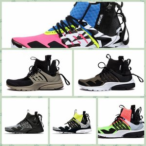Wholesale NPSTHF Hot new Famous x Lab prestos Mid Running Shoes For Men Fashionable White Black Hot Lava prestos Shoes Sport Trainers size36