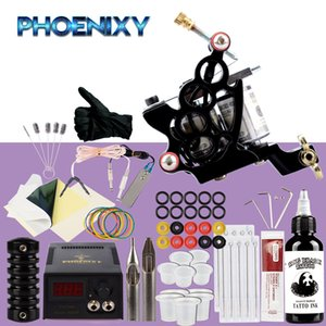 Wholesale Beginner Tattoo Kit Tattoo Machine Set ml Black Pigment Ink Power Supply Needles For Complete Accessories Kit