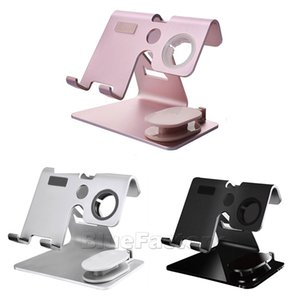 Wholesale 2 In Holder Office Bracket Tablet Smart Watch Mobile Phone Portable Home Multifunction Charging Stand Holder Station Desktop Car