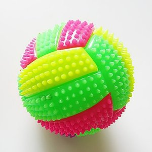 Wholesale Fitness Musle Massage Balls LED Volleyball Flashing Light Up Color Changing Bouncing Hedgehog Kids Sports Balls