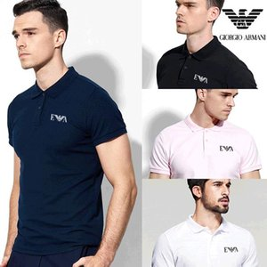 Wholesale 2019 luxurys Italy designers stripe polo shirt t shirts Luxurys snake polos bee floral embroidery mens High street fashion horse polo T shir