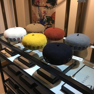 Wholesale new arrivals Girls casquette hats wool Beret Beanie Hats Women Painter Outdoor Autumn Warm French Beret Girls Wool Caps more colors