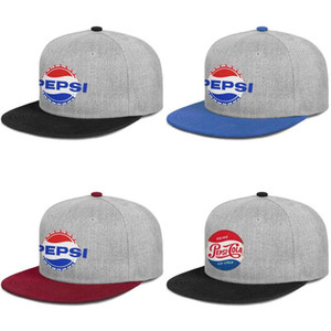 Wholesale snap back cap sale resale online - Pepsi Caps for men and women snap back baseballcap custom blank Hip Hopflat brimhats Cola Classic in Can Old Logo Distressed on sale