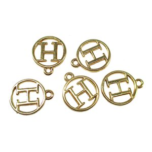 30pcs lot Metal Alloy Alphabet English Letters H Charms Pendants Diy Jewelry Accessories Charm Necklace Pendants Jewelry Crafts