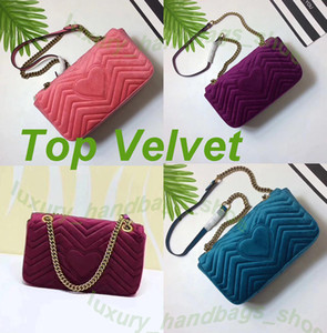 Wholesale Love heart Wave Pattern NEW ARRIVED luxury handbags women bags designer small messenger Velour bags feminina velvet girl bag