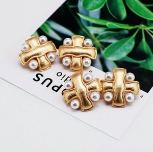 New hot designer millet pearl ear clip ladies brand earrings jewelry gifts love high quality