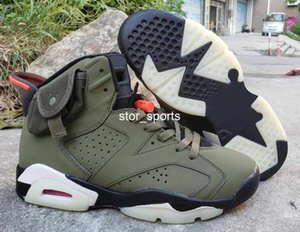 Wholesale Good Quality Travis Scotts Cactus Jack Glow In Dark M Reflective Olive Army Green Basketball Shoes Men s Sneakers New With Box
