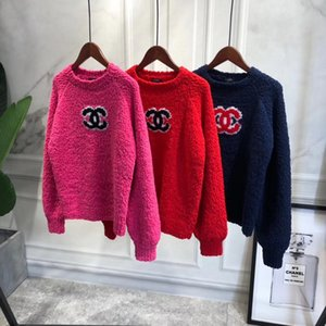 Wholesale 2019 autumn winter women pullover red pink dark blue lady fashion jumper winter female sweater