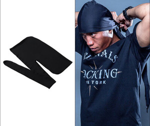 summer Bandana Durag DU-RAG Noir Caps Hip Hop Rap Cap Do-Rag Sports Unisex Head Scarf men head scarf dancer DJ street scarf